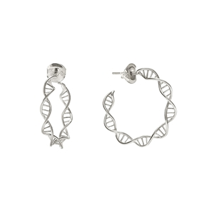 Style DNA Silver 925 Μικροί Κρίκοι Σκουλαρίκια-