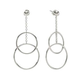 Link Up Silver 925 Long Earrings-
