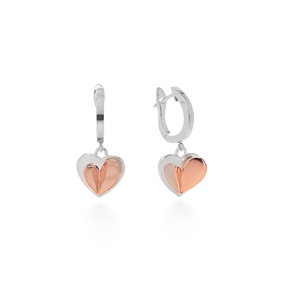 Love To Love Silver 925 Short Earrings-