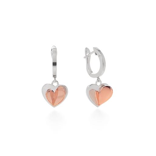 Love To Love Silver 925 Κοντά Σκουλαρίκια-