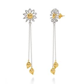 Dainty World Silver 925 Long Earrings-