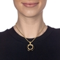 Metal Chic Yellow Gold Plated Short Necklace-
