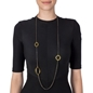Metal Chic Gun Plated Long Necklace-