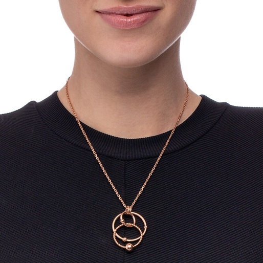 Style Bonding Rose Gold Plated Short Necklace -
