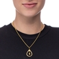 Style Drops Yellow Gold Plated Long Necklace-