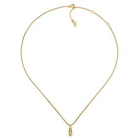 Style Drops Yellow Gold Plated Κοντό Κολιέ-