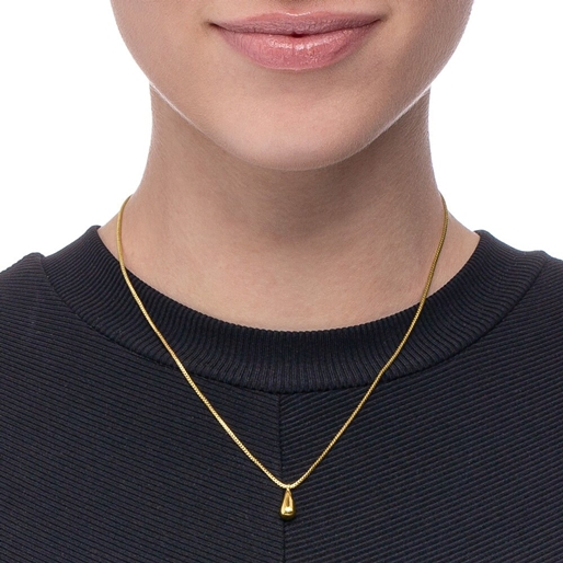 Style Drops Yellow Gold Plated Short Necklace-