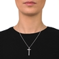 Carma Silver Plated Brass Long Necklace-