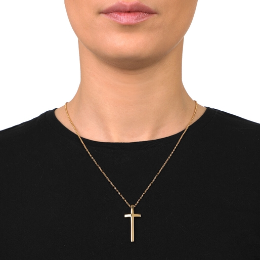 Carma 18k Yellow Gold Plated Brass Long Necklace-
