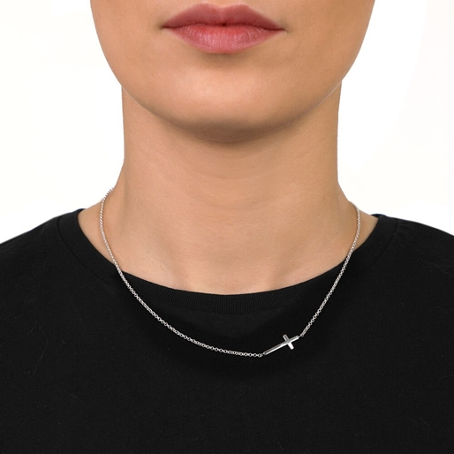 Carma Silver Plated Brass Short Necklace-