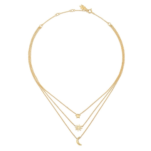 Wishing On Silver 925 18k Yellow Gold Plated Κοντό Κολιέ-