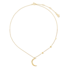 Wishing On Silver 925 18k Yellow Gold Plated Short Necklace-
