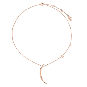 Wishing On Silver 925 18k Rose Gold Plated Κοντό Κολιέ-