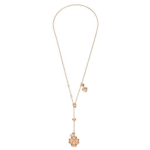 Heart4Heart Blossom Rose Gold Plated Long Necklace-