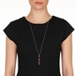 Fluidity 18k Rose Gold Plated Brass Long Necklace-