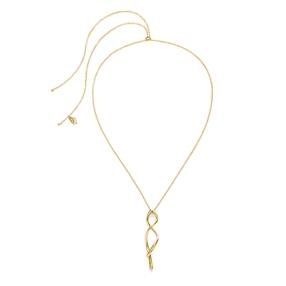 Fluidity 18k Yellow Gold Plated Brass Μακρύ Κολιέ-