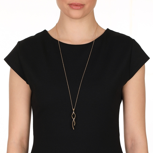 Fluidity 18k Yellow Gold Plated Brass Long Necklace-