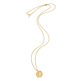 Stylesphere 18k Yellow Gold Plated Brass Long Necklace-