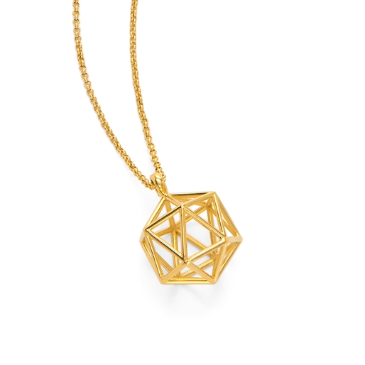 Stylesphere 18k Yellow Gold Plated Brass Μακρύ Κολιέ-
