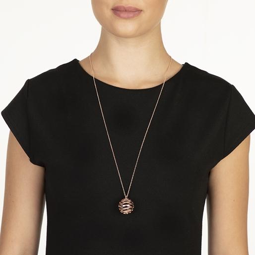 Stylesphere 18k Rose Gold Plated Brass Μακρύ Κολιέ-