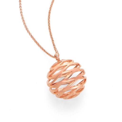 Stylesphere 18k Rose Gold Plated Brass Long Necklace-