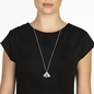 Pleats Bliss Silver Plated Brass Long Necklace-