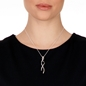 Fluidity Silver Plated Brass Long Necklace-