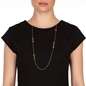 Style DNA Silver 925 18k Yellow Gold Plated Long Necklace-