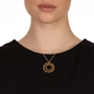 Style DNA Silver 925 18k Yellow Gold Plated Short Necklace-