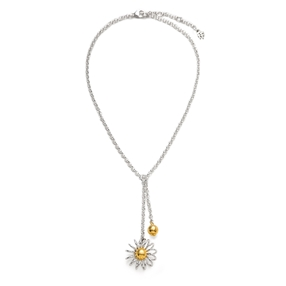 Dainty World Silver 925 Short Necklace-