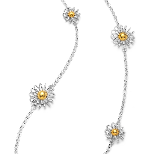 Dainty World Silver 925 Long Necklace-
