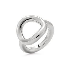 Metal Chic Silver Plated Chevalier Ring-