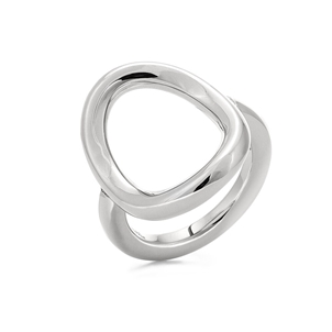 Metal Chic Silver Plated Ring -