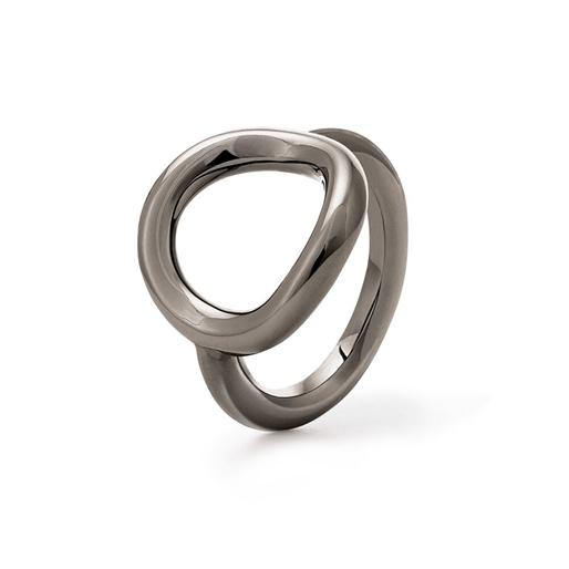Metal Chic Gun Plated Ring -