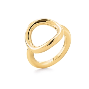 Metal Chic Yellow Gold Plated Ring-