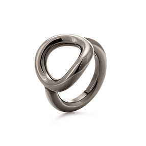 Metal Chic Gun Plated Chevalier Ring-