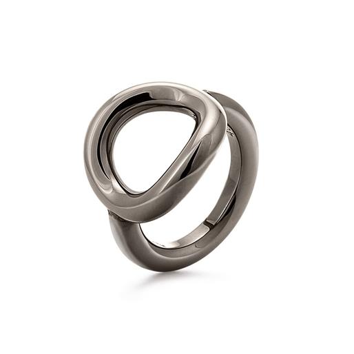 Metal Chic Gun Plated Chevalier Ring -