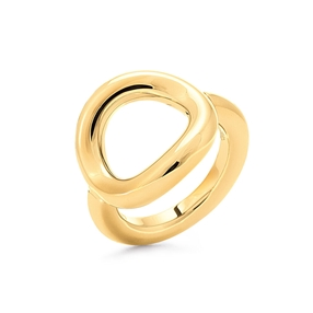 Metal Chic Yellow Gold Plated Chevalier Ring-