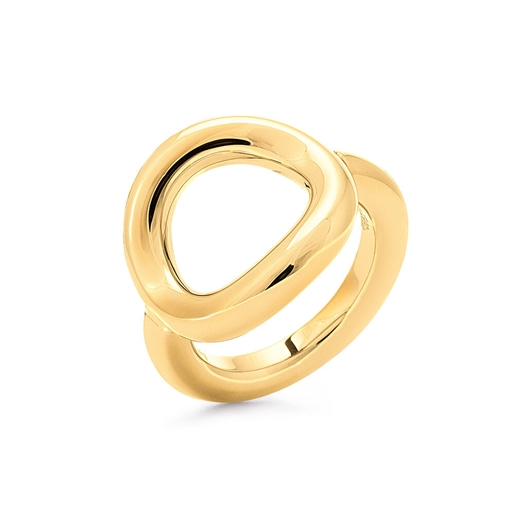 Metal Chic Yellow Gold Plated Chevalier Ring -