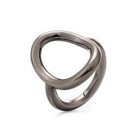 Metal Chic Gun Plated Ring-