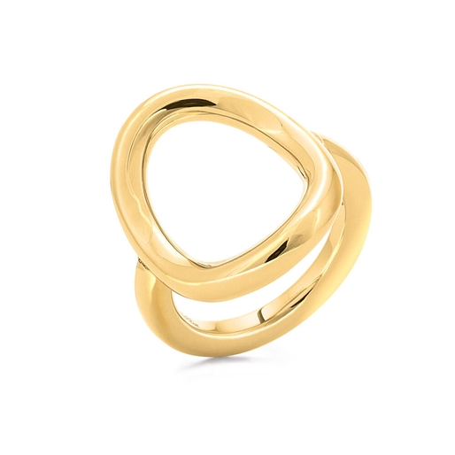 Metal Chic Yellow Gold Plated Ring -
