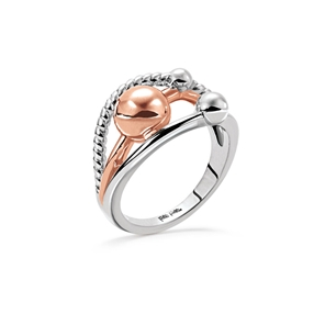 Style Bonding Silver Plated Ring-