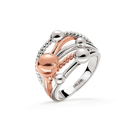 Style Bonding Silver Plated Wide Ring-