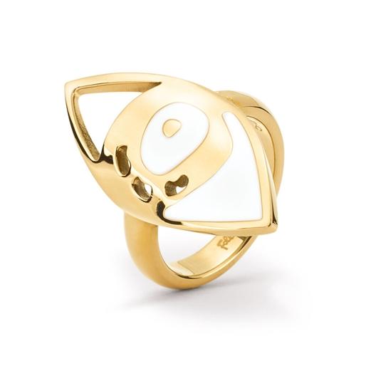 FF Talisman Yellow Gold Plated Δαχτυλίδι-