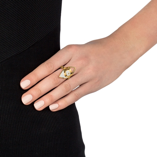 FF Talisman Yellow Gold Plated Ring-