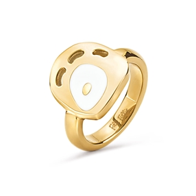 FF Talisman Yellow Gold Plated Chevalier Ring-