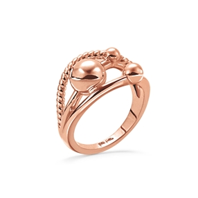 Style Bonding Rose Gold Plated Ring-