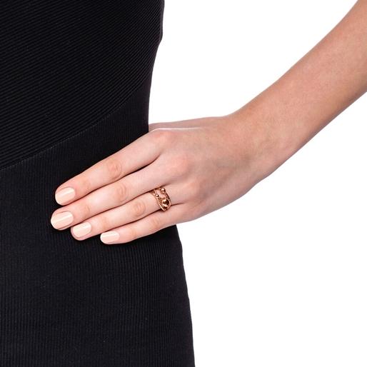 Style Bonding Rose Gold Plated Δαχτυλίδι-