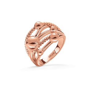 Style Bonding Rose Gold Plated Wide Ring-