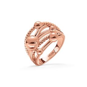 Style Bonding Rose Gold Plated Φαρδύ Δαχτυλίδι-